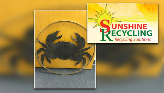 Crab Metal Art_Sunshine Recycling