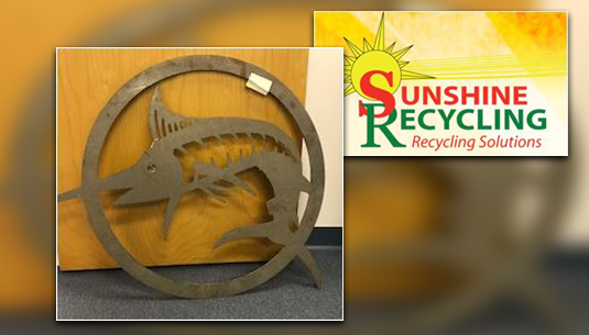 Swordfish Metal Art_Sunshine Recycling