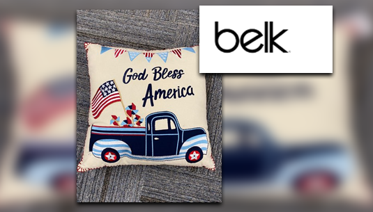 God Bless America Pillow_Belk of Sumter