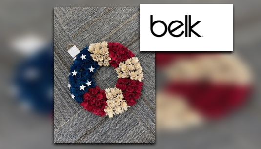 Red White and Blue Wreath_Belk of Sumter