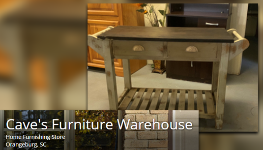 Distressed Kitchen Island_Caves Furniture Warehouse