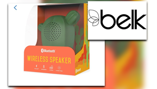 Art + Sound Portable Cute Cactus Bluetooth Speaker_Belk of Sumter