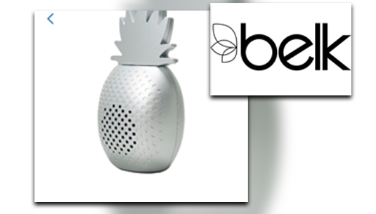 Art + Sound Portable Cute Pineapple Bluetooth Speaker_Belk of Sumter