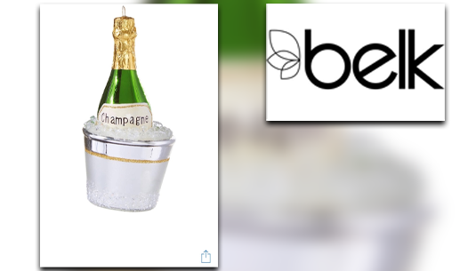 RAZ Champagne Bucket Ornament_Belk of Sumter