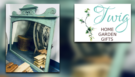 Antique Turquoise Chippy Mirror_Twig Home and Garden