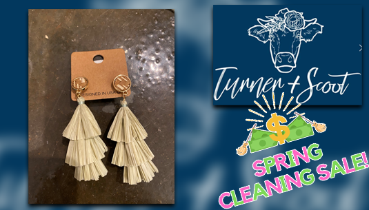 SCS_Basket Detail Dangle Earrings with Sage Green Tassel_Turner and Scoot