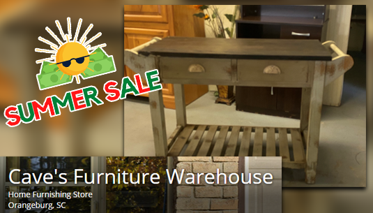 SS_Distressed Kitchen Island_Caves Furniture Warehouse
